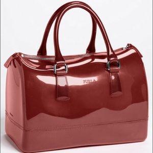 FURLA Dark red large Candy bag